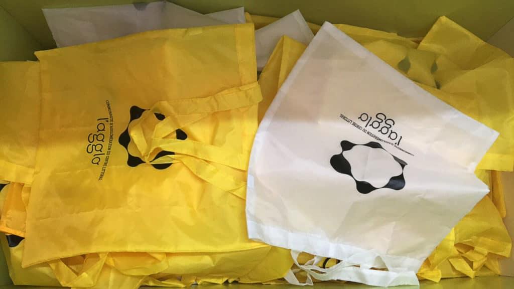 Impression en sérigraphie directe sur sac cabas