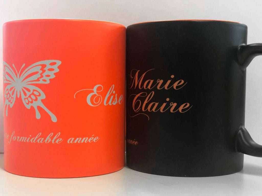 Impression par sublimation sur mug